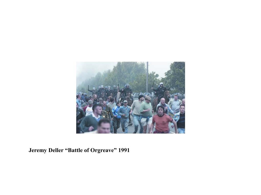 """Jeremy Deller """"Battle of Orgreave"""" 1991"""