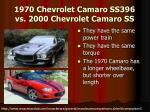 1970 chevrolet camaro ss396 vs 2000 chevrolet camaro ss