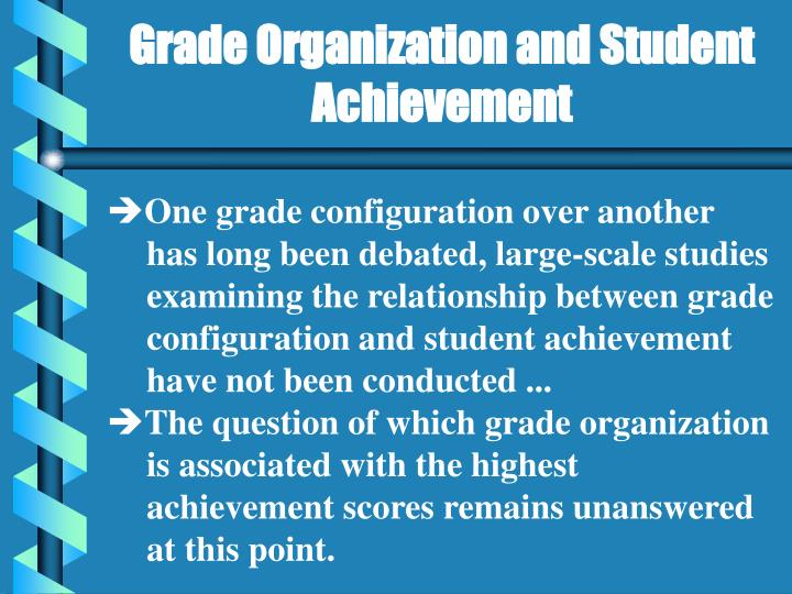 Grade Organization and Student Achievement