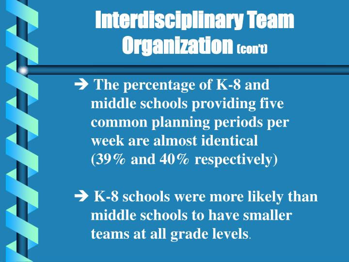 Interdisciplinary Team Organization