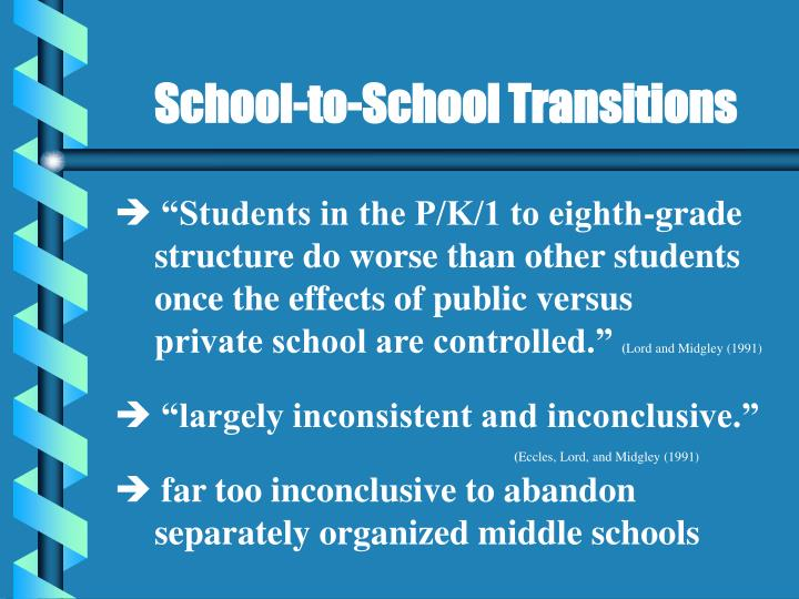 School-to-School Transitions