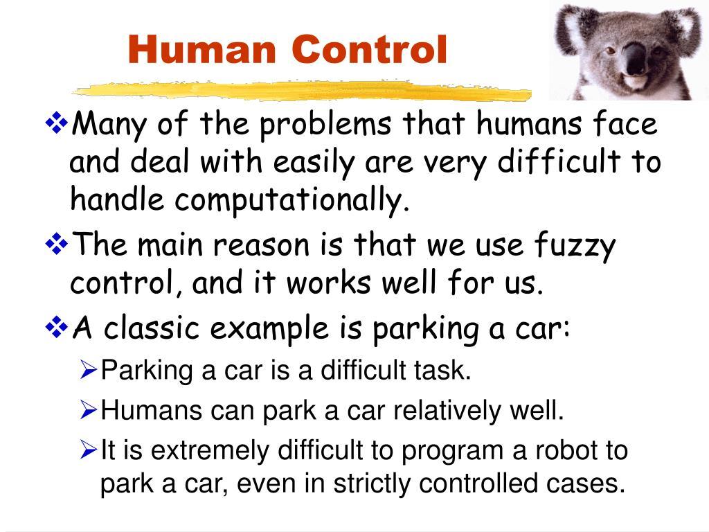 Human Control