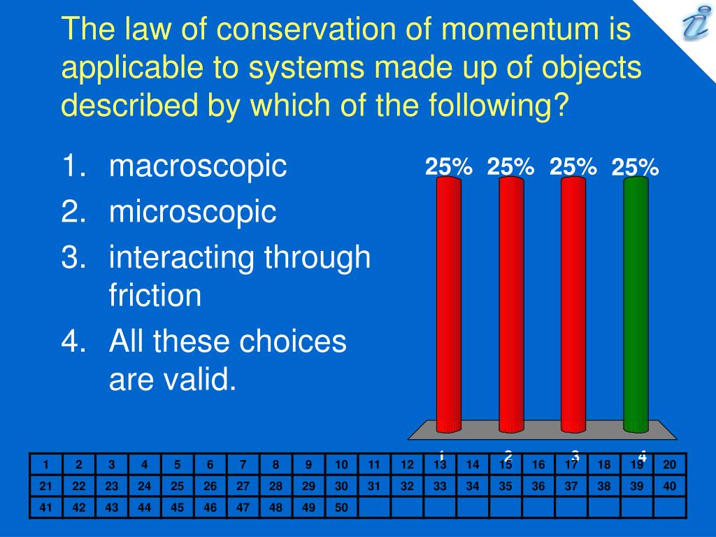 The law of conservation of momentum is applicable to systems made up of objects described by which of the following?