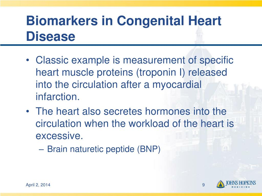 Biomarkers in Congenital Heart Disease
