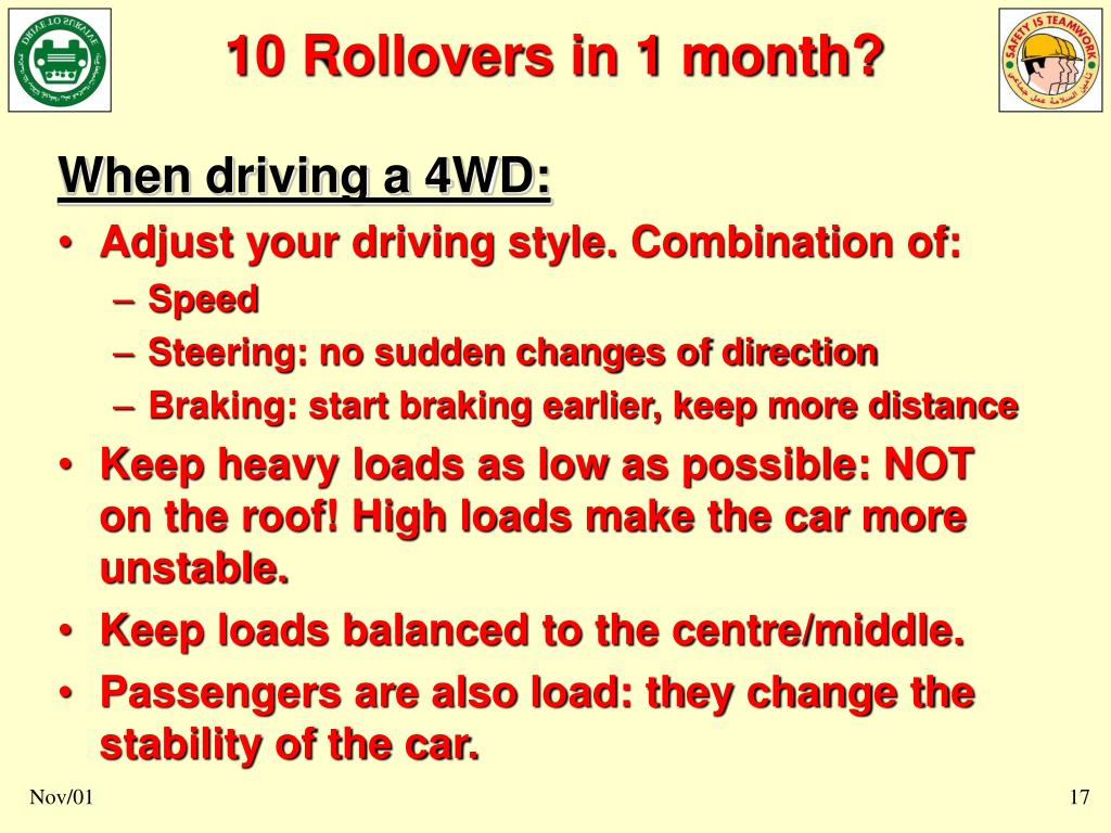 When driving a 4WD: