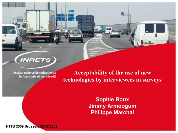 Acceptability of the use of new technologies by interviewees in surveys