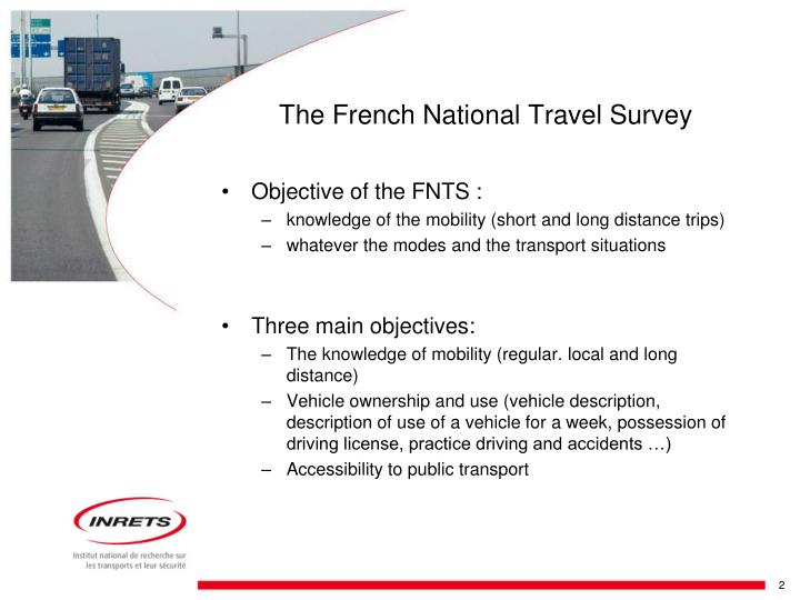 The french national travel survey