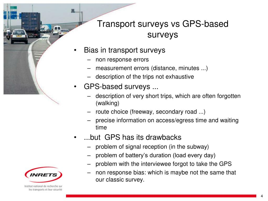 Bias in transport surveys