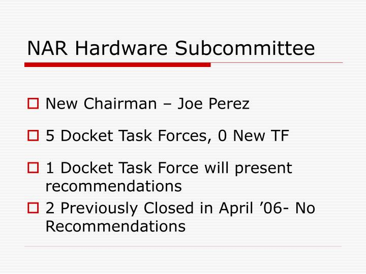 Nar hardware subcommittee2