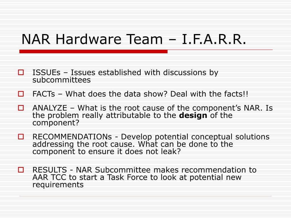 NAR Hardware Team – I.F.A.R.R.
