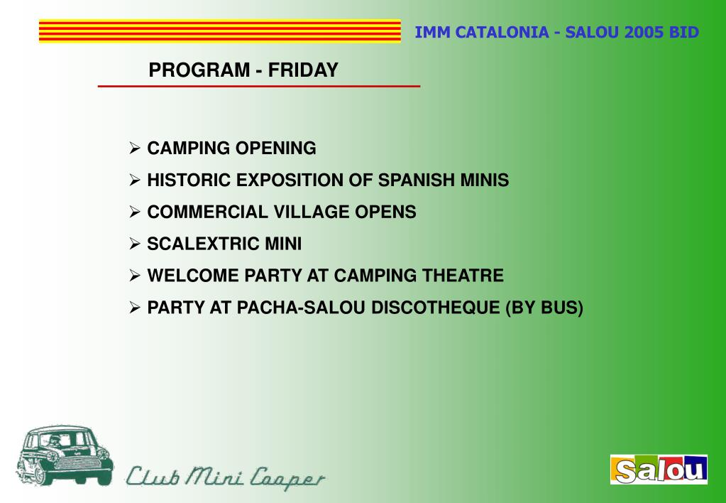 PROGRAM - FRIDAY