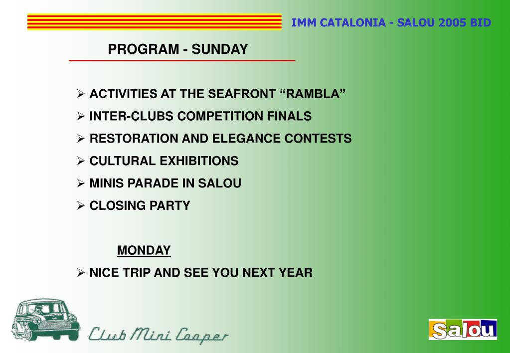 PROGRAM - SUNDAY