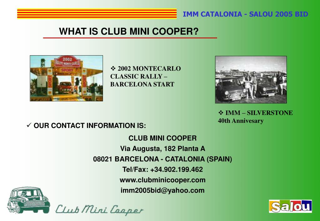 WHAT IS CLUB MINI COOPER?