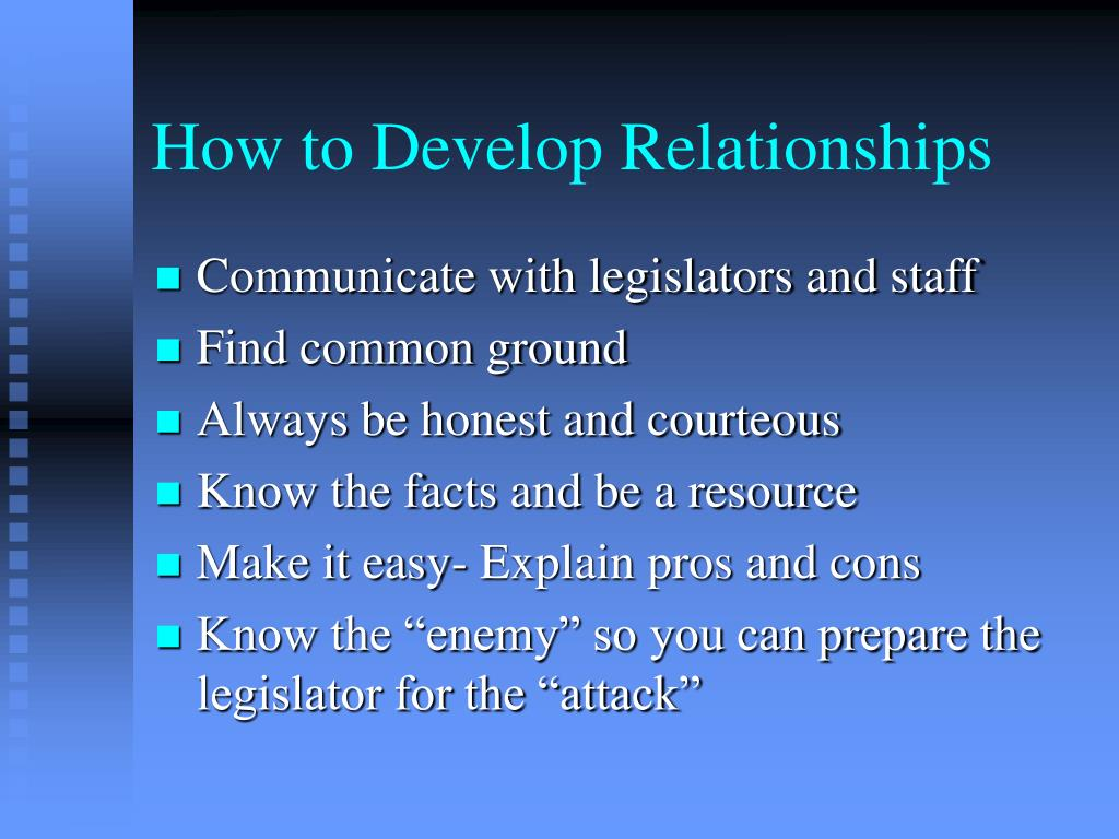How to Develop Relationships