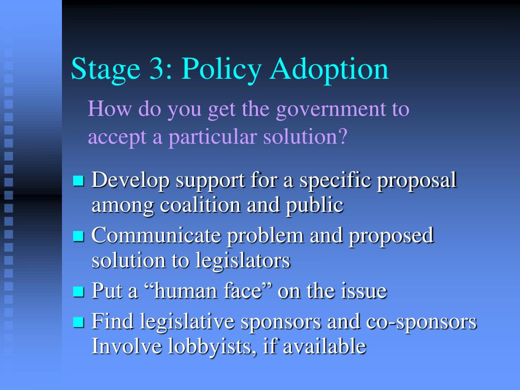 Stage 3: Policy Adoption
