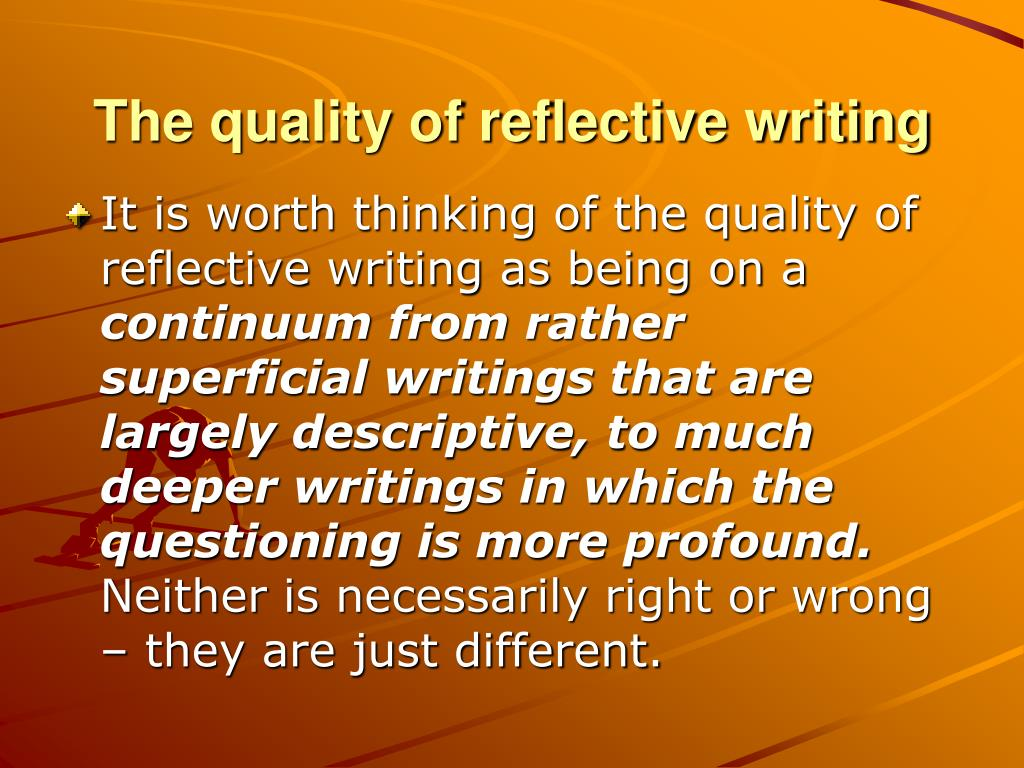 Initial reflective essay