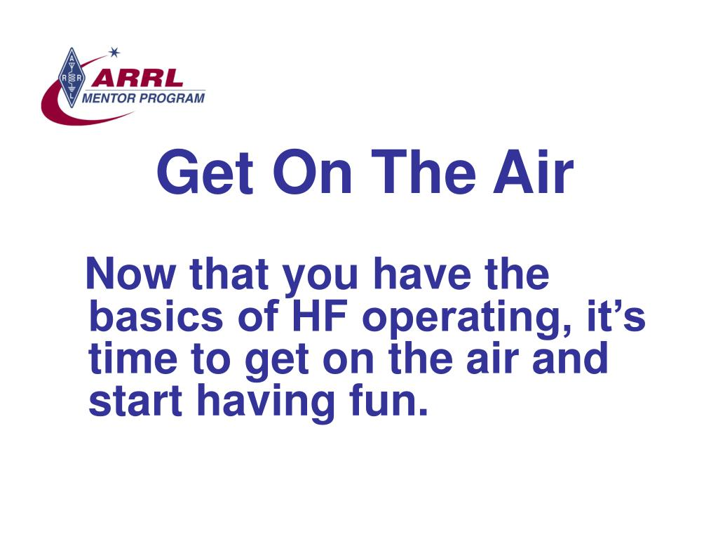 Get On The Air