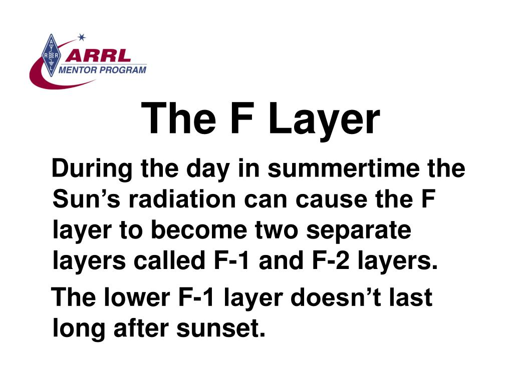The F Layer