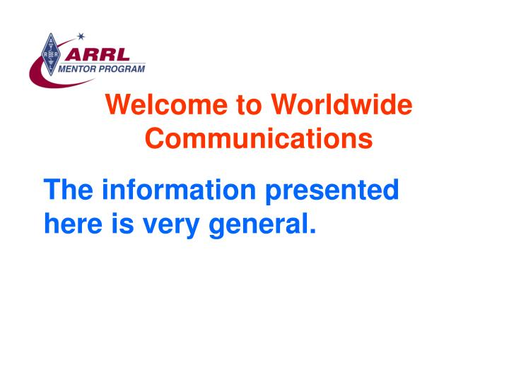 Welcome to worldwide communications3