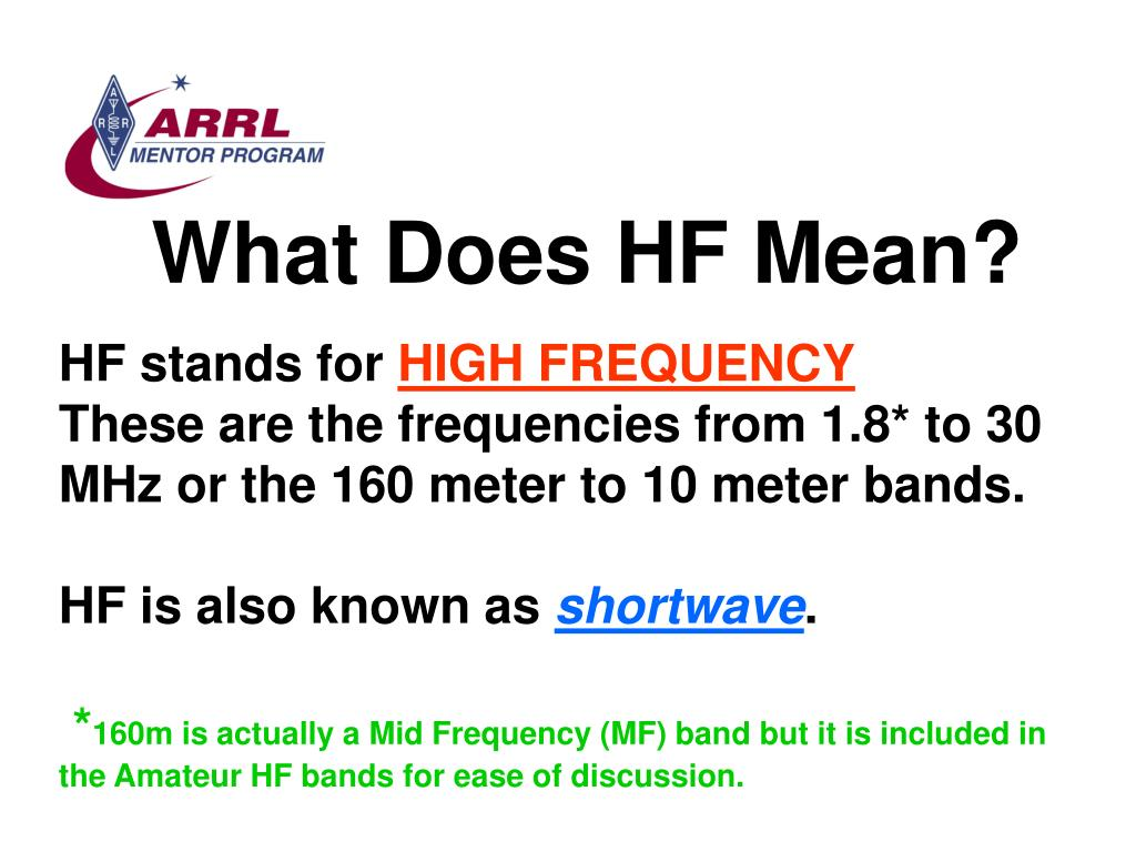 What Does HF Mean?