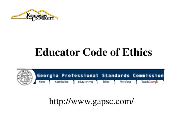 Educator Code of Ethics