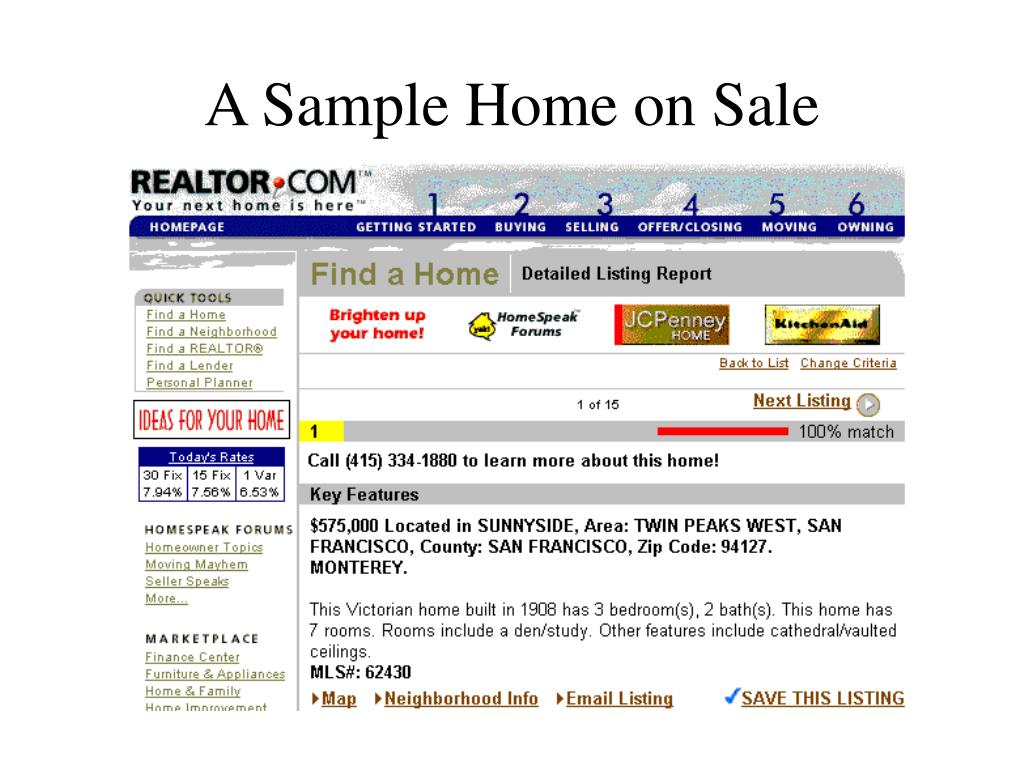 A Sample Home on Sale