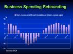 business spending rebounding