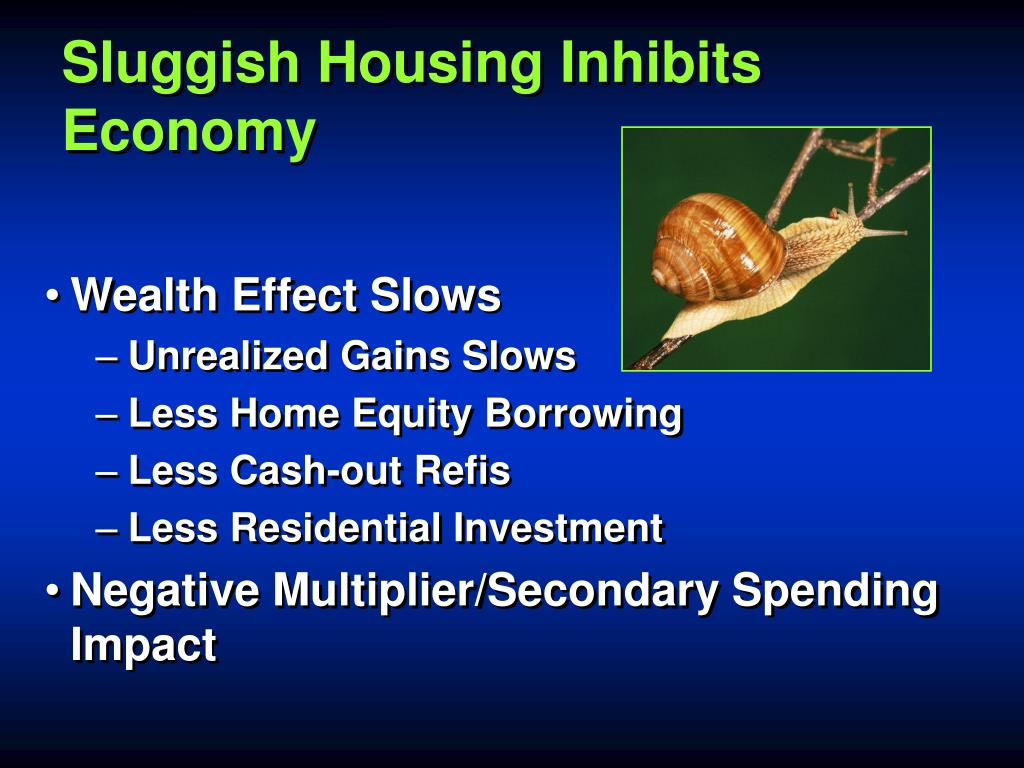Sluggish Housing Inhibits Economy