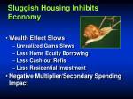 sluggish housing inhibits economy
