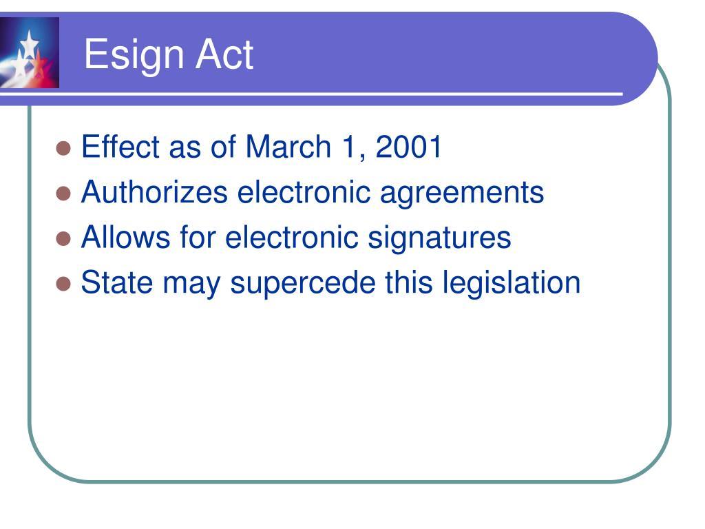 Esign Act