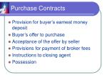 purchase contracts