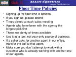 floor time policies