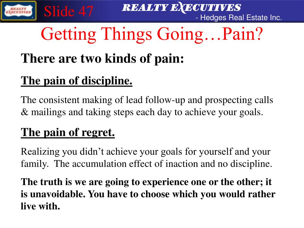 Getting Things Going…Pain?