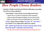 how people choose realtors
