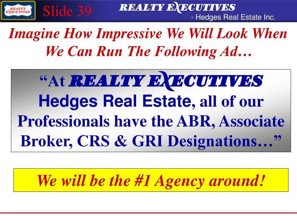 ©REALTY EXECUTIVES International, Inc. 2000