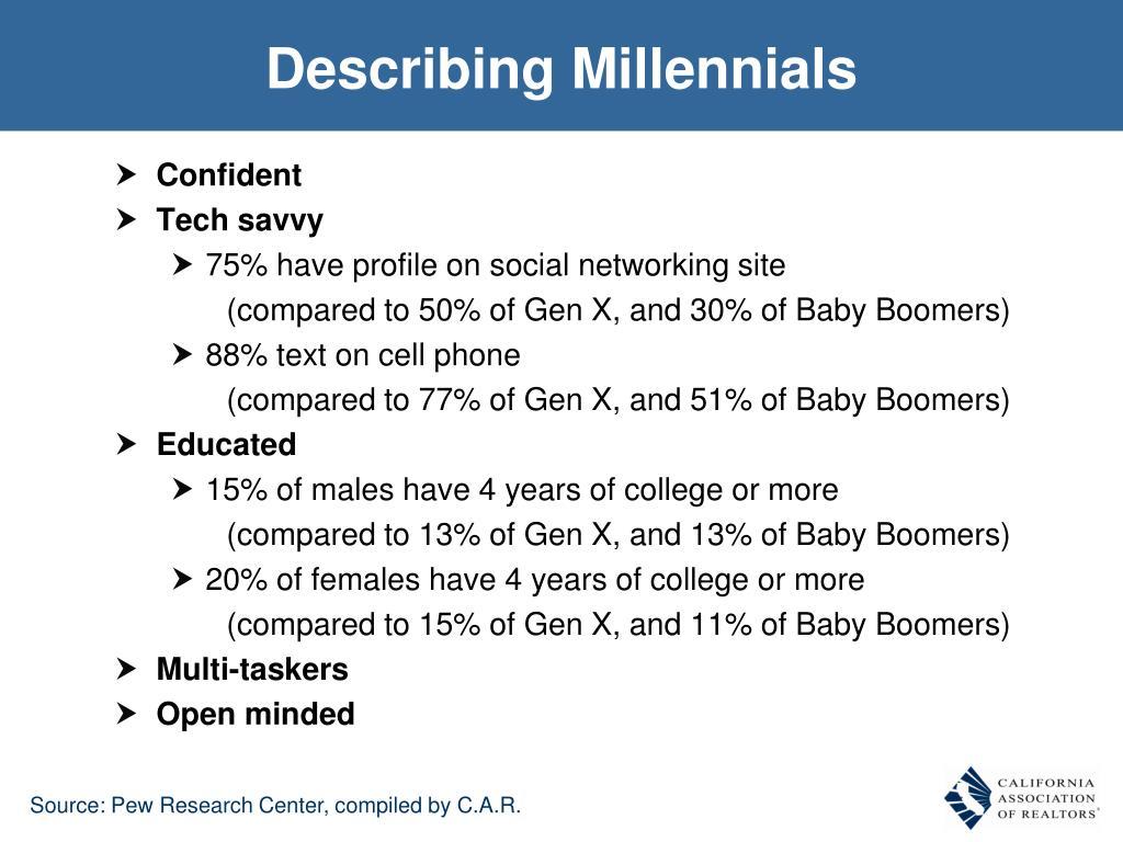 Describing Millennials