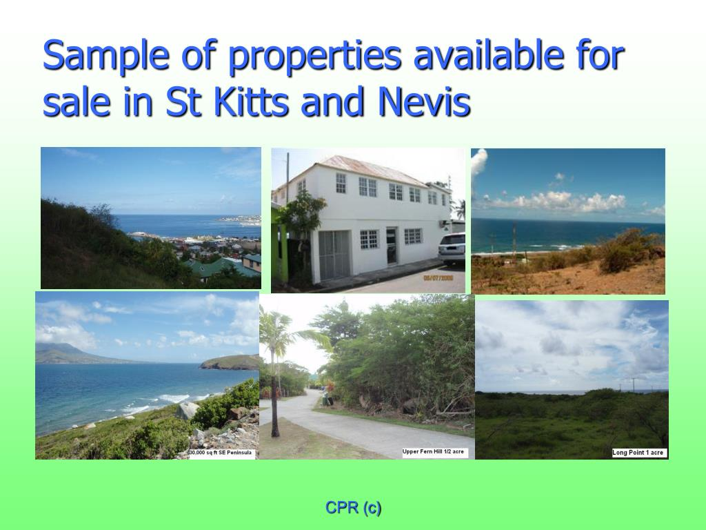 Sample of properties available for sale in St Kitts and Nevis