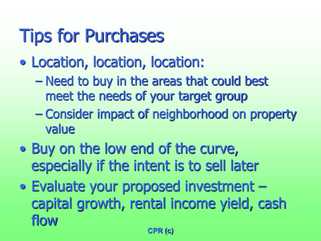 Tips for Purchases