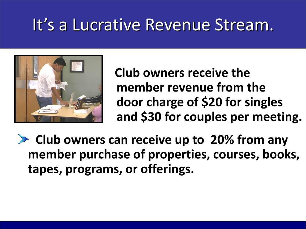 It's a Lucrative Revenue Stream.
