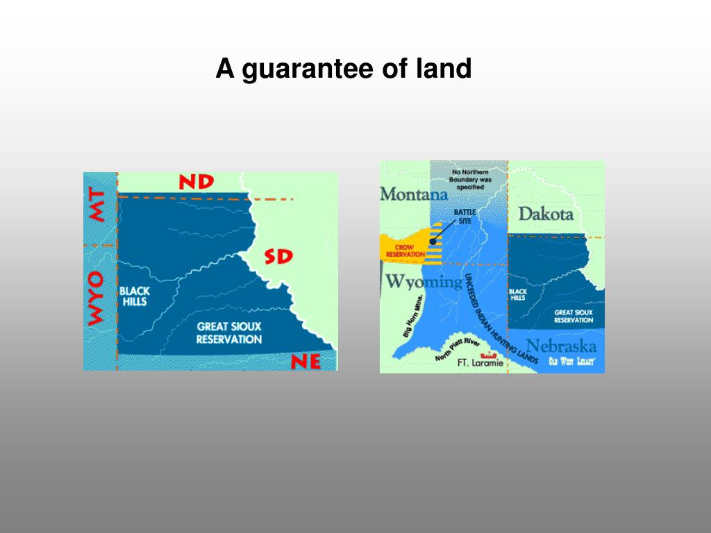 A guarantee of land