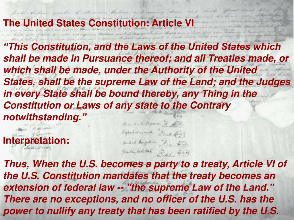 The United States Constitution: Article VI