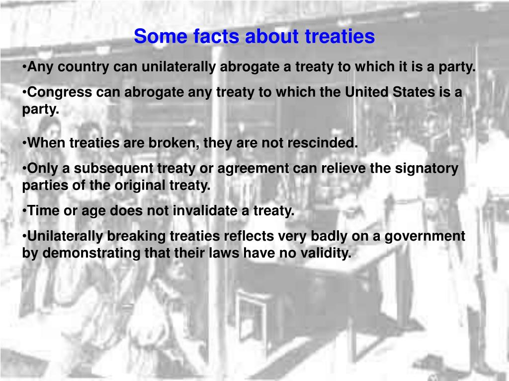 Some facts about treaties
