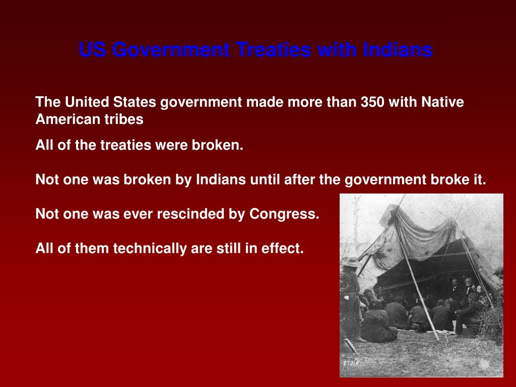 US Government Treaties with Indians