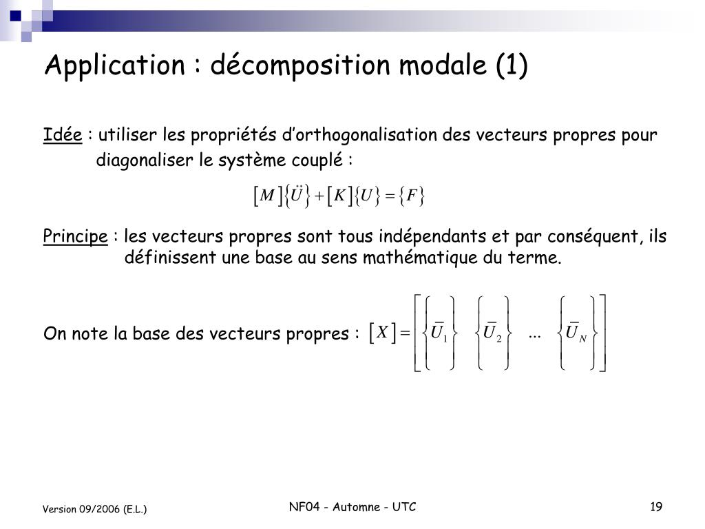 Application : décomposition modale (1)