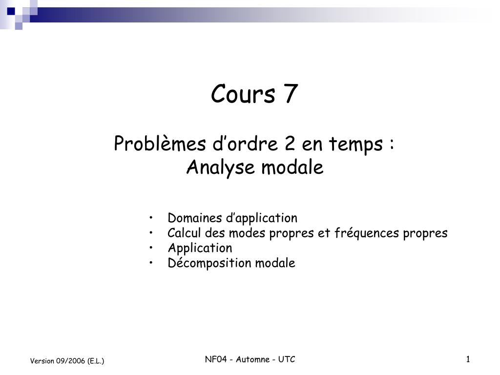 Cours 7