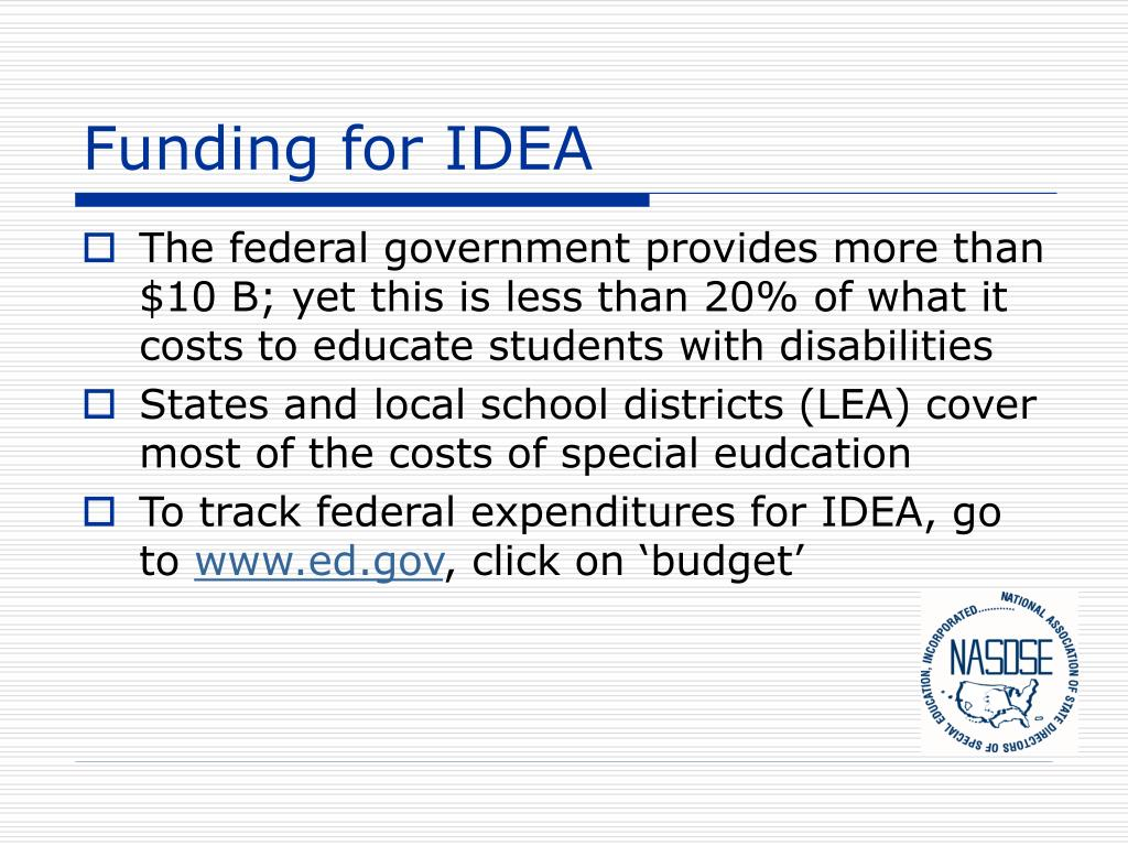 Funding for IDEA