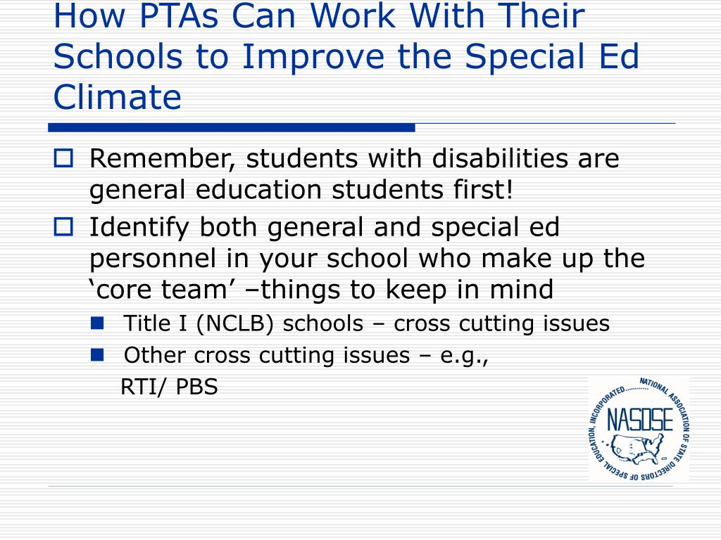 How PTAs Can Work With Their Schools to Improve the Special Ed Climate