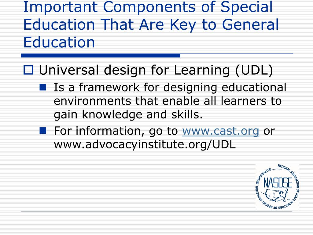 Important Components of Special Education That Are Key to General Education