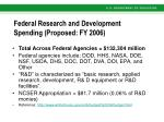 federal research and development spending proposed fy 2006
