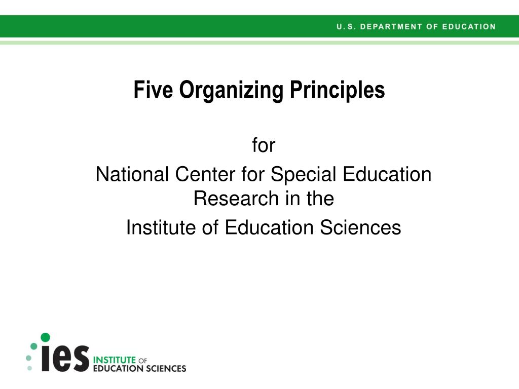 Five Organizing Principles